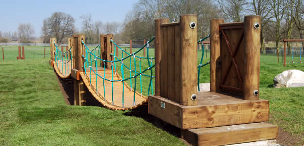 Rope bridges - Rubicon Play bespoke play ropes
