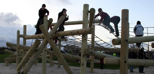 Adventure Logs playground wooden climbing frame